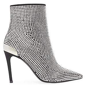 Balmain Women's Embellished Stretch Suede & Leather Ankle Boots