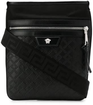 Versace Medusa zipped messenger bag