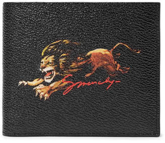Givenchy Printed Textured Coated-Canvas Billfold Wallet