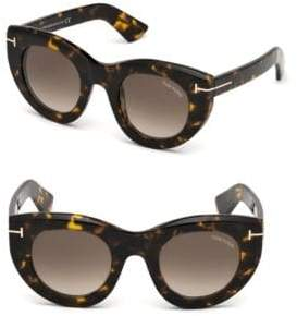 Tom Ford Marcella 48MM Thick Cat-Eye Sunglasses