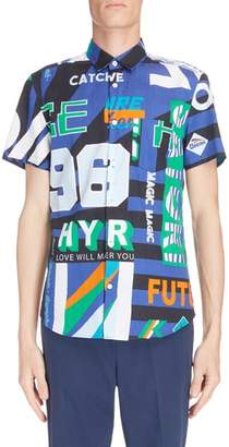 Kenzo Sport Print Woven Shirt