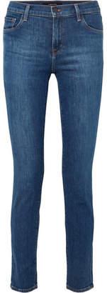 J Brand Maude Mid-rise Skinny Jeans - Mid denim
