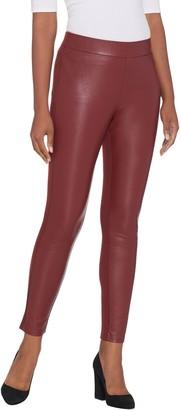 Brooke Shields Timeless BROOKE SHIELDS Timeless Petite Faux Leather Ponte Back Leggings