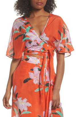 Diane von Furstenberg Wrap Cover-Up Top