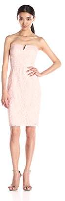 Donna Morgan Women's Quinn Short Strapless Lace Dress