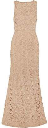 Alice + Olivia Kacie Beaded Macramé Lace Gown