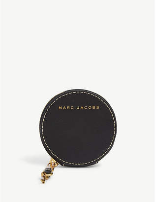 Marc Jacobs Black and Dark Cherry Red Leather Coin Pouch