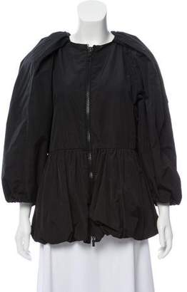 Moncler Gamme Rouge Ruched Zip-Up Jacket