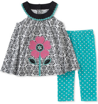Kids Headquarters 2-Pc. Flower Tunic & Capri Leggings Set, Baby Girls (0-24 months) $36 thestylecure.com