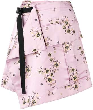 Kenzo belted floral skirt