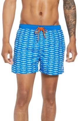 BOSS Piranha Shark Swim Trunks