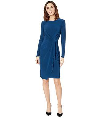 Lauren Ralph Lauren Matte Jersey Svetlana Long Sleeve Day Dress
