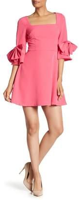 Alexia Admor Bow Sleeve Fit & Flare Dress