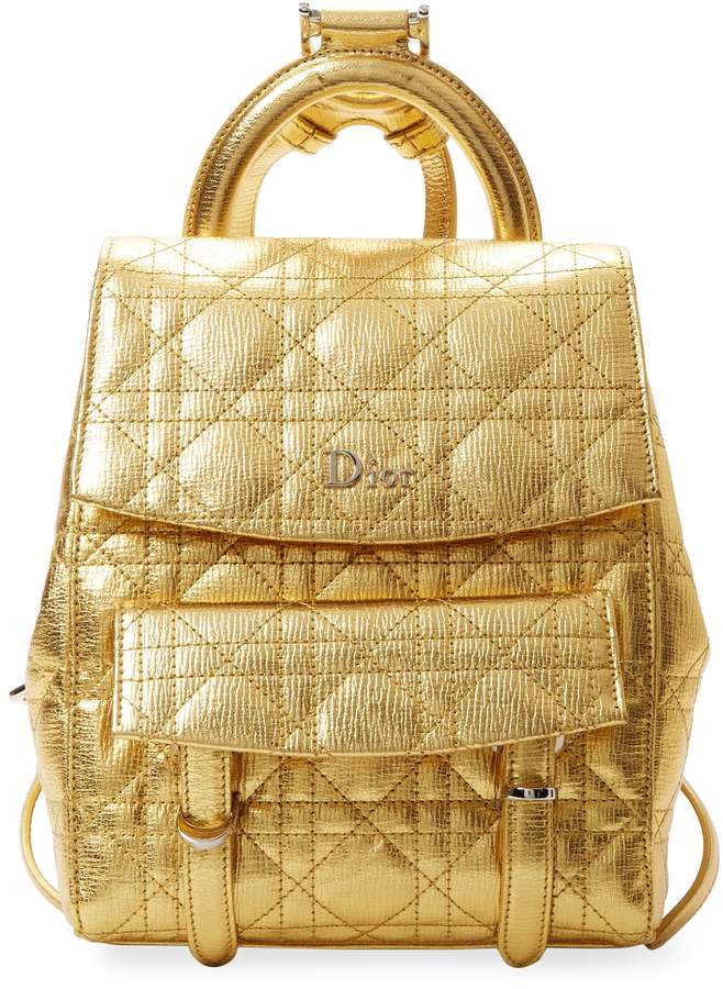 Dior Women's Metallic Leather Backpack