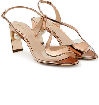 Nicholas Kirkwood Maeva Pearl Metallic Sandals