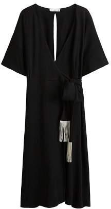 MANGO Frayed bow dress