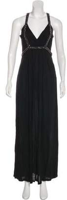 Magaschoni Embellished Maxi Dress w/ Tags