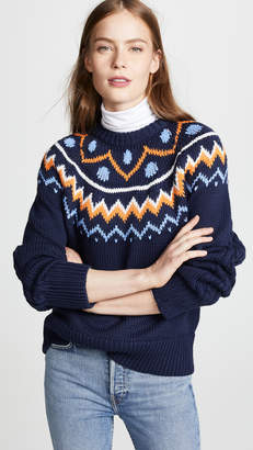 Tory Sport Fair Isle Cable Sweater