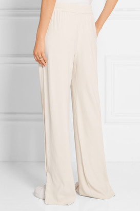 Theory Jolinta Stretch-crepe Wide-leg Pants - Ivory - ShopStyle Women