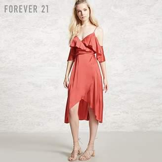 Forever 21 (フォーエバー 21) - Forever 21 サテンラップワンピース
