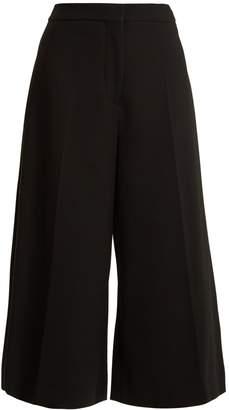 Stella McCartney Wide-leg cropped stretch-wool trousers