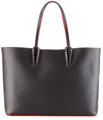 Christian Louboutin Cabata East-West Leather Tote Bag, Black $1,250 thestylecure.com