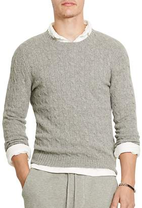 Polo Ralph Lauren Cashmere Cable-Knit Sweater $398.50 thestylecure.com