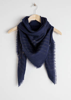 And other stories Metallic Open Knit Wool Scarf