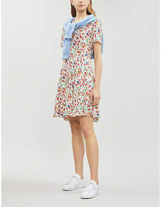 Claudie Pierlot Reed floral crepe shirt dress