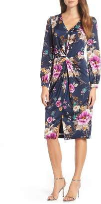 Maggy London Floral Charmeuse Dress