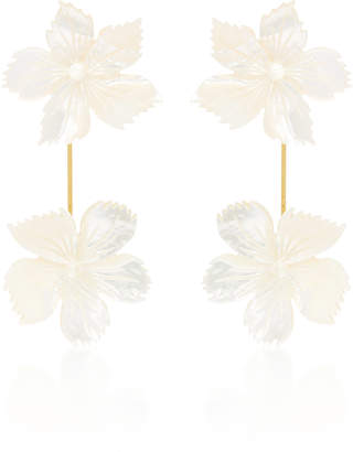 Jennifer Behr Floral Pearl Drop Earring
