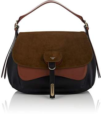 Fontana Milano 1915 Women's Wight Medium Leather & Suede Saddle Hobo Bag