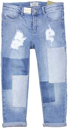 Mayoral Junior Girl's Denim Pants with Patches, Sizes 8