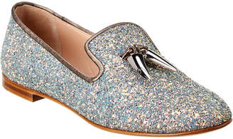Giuseppe Zanotti Spacey Glitter Leather Loafer