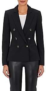 Barneys New York Women's Wool-Blend Double-Breasted Jacket - Black
