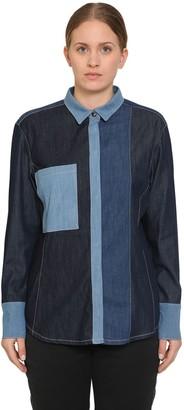 Marina Rinaldi Baccheo Patchwork Cotton Denim Shirt