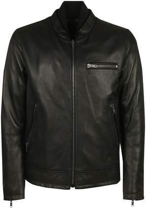 Orciani Zip-up Leather Jacket