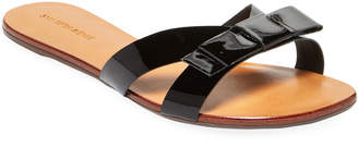 Saks Fifth Avenue Patent-Leather Bow Slide