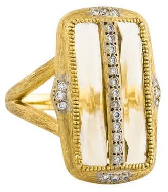 Jude Frances 18K Citrine & Diamond Moroccan Ring
