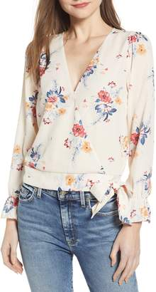 Socialite Floral Faux Wrap Top