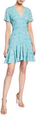 Alexis Delia Printed Button-Down Short Dress