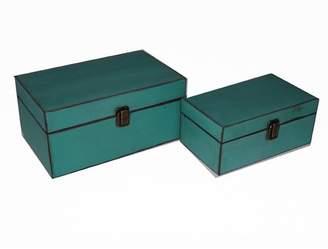 Three Posts 2 Piece Simple Wooden Treasure Box Set