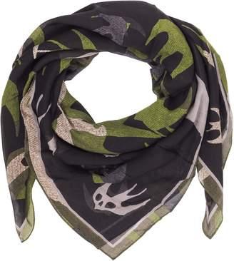 McQ Swallow Swarm Camouflage Modal Wrap W/ Fringes