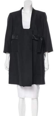 Louis Vuitton Wool Knee-Length Coat
