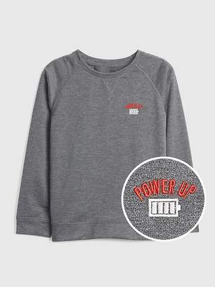 Gap Graphic Long Sleeve T-Shirt in French Terry