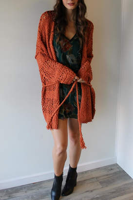 Band of Gypsies Mixstitch Popcorn Cardi
