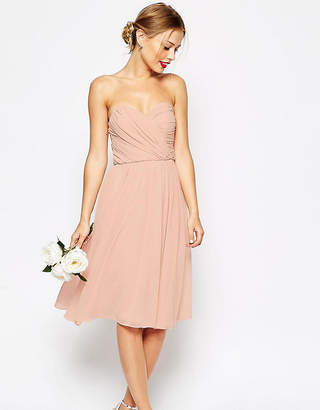 Asos WEDDING Bandeau Midi Dress