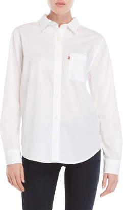 Levi's Bright White Boyfriend Fit Pocket Shirt
