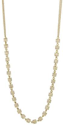 Lee Jones Collection Endless Diamond Fairy Dust Choker Necklace - Yellow Gold