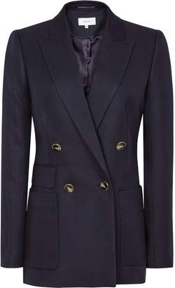 Reiss Tate Jacket - Double Breasted Jacket in Navy